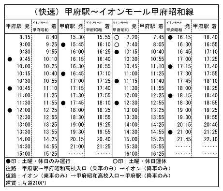 イオン線時刻表